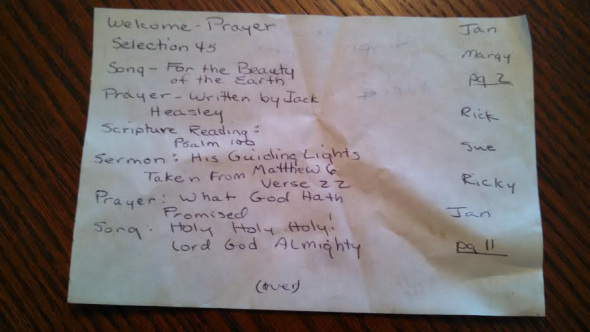 Church Service We Wrote For Around The Pool Page1 Right Position