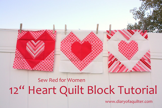Heart Quilt Block Tutorial 001