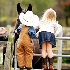 Cowboy Girl And Boy