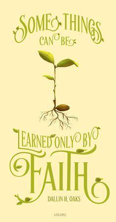 learn by faith