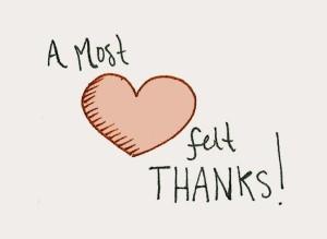 Heart felt thanks