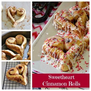 Cinnamon Rolls for Valentines Day