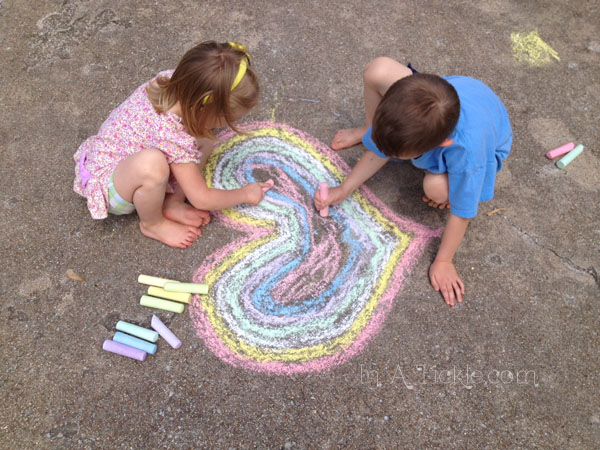 Kids Chalk Art Heart