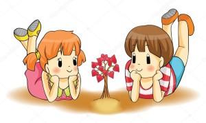 children growing hearts