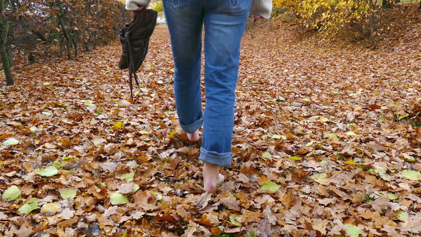 Walking In Leaves