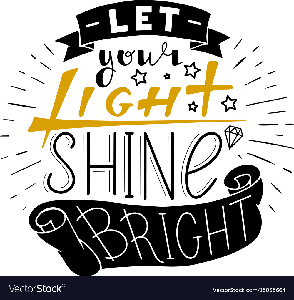 Let Your Light Shine Bright Vector 15035664