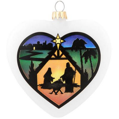 Heart And Manger Scene