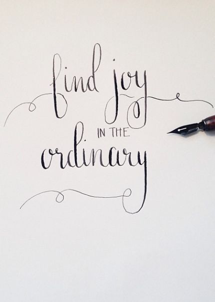 Joy In The Ordinary